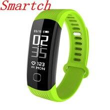 Smartch Bluetooth Smart Браслет напоминание Шагомер Смарт-фитнес-браслет пульсометр часы трекер группа