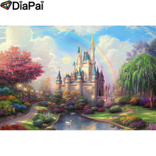 DIAPAI Diamond Painting 5D DIY 100% Full Square/Round Drill Castle rainbow Embroidery Cross Stitch 3D Decor A24790