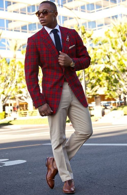 Popular Mens Red Wool Plaid Jacket-Buy Cheap Mens Red Wool Plaid ...