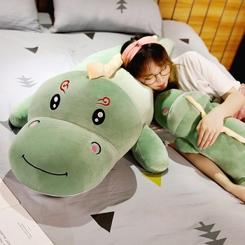 New Big Size Long Lovely Dinosaur Plush Toy Soft Cartoon Animal Dinosaur Stuffed Doll Boyfriend Pillow Kids Girl Birthday Gift 4