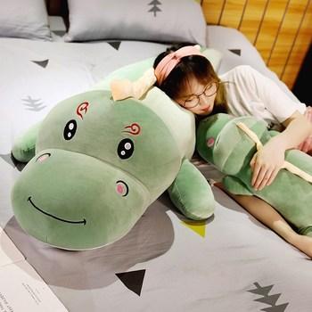 Nice Big Size Long Lovely Dinosaur Plush Toy Soft Cartoon Animal Dinosaur Stuffed Doll Boyfriend Pillow Kids Girl Birthday Gift cartoon crocodile doll pillow cushions birthday gift 80cm super big size free shipping yh 47
