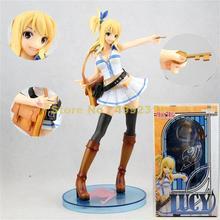 Figuras de acción de pvc de 21cm, serie fairy tail lucy heartfilia, colección de figuras de acción