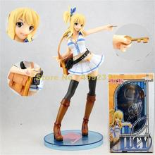 Figurine danime, 21cm, lucy, heartphilia, jouet modèle, collection de figurines daction en pvc