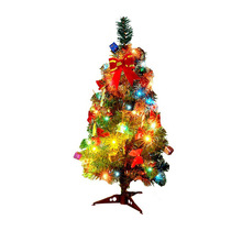 30/45/60cm Artificial Christmas Tree Bundle With Christmas Ornaments LED Multicolor Lights Navidad Decorations Tree For Home