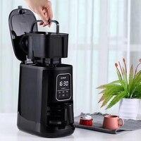 600ML Capacidade 1-4 Copos Máquina de Café Coffee Bean Grinder 220V máquina de Café Totalmente Automática Superior LED painel de toque