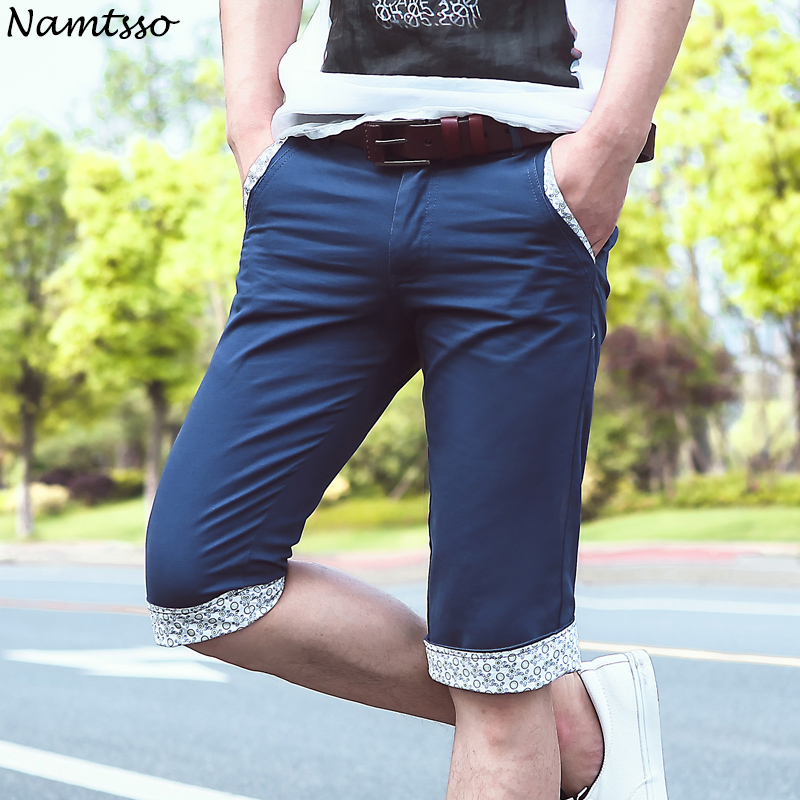 Mens Cotton casual Shorts Men Summer Style Breathable Clothing Sweat Large size fat guy Five cents trousers 809