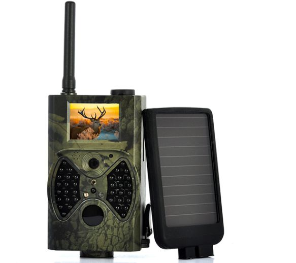 Solar powered 12MP PIR sensor GSM MMS hunting camera HC300M with solar panel Deer Trail camera Photo traps 3g hunting trail camera with metal safety box and solar charger