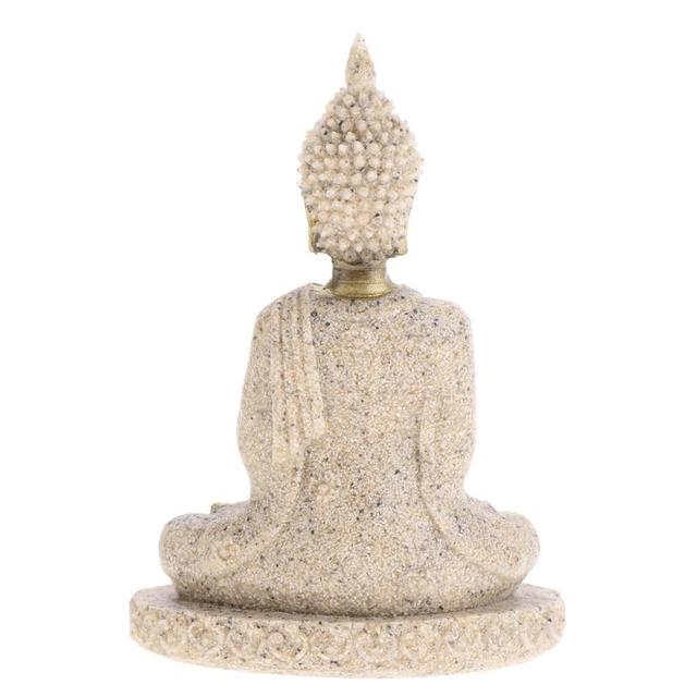 MagiDeal The Hue Sandstone Meditation Buddha Statue Sculpture Handmade Figurine Meditation Miniatures Ornament Statue Home D#3 2