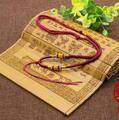 Free shipping 10Pcs/Lot Chinese Traditional Nylon Pendant Cord Rope for Necklace  purplish red; Color For Necklace Making