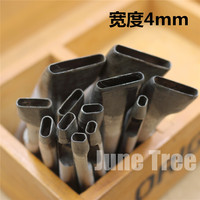 Handmade Leather DIY Tools Strap One Shape Cowhide Punch Oval Shape Punch 4mm Width DG0224