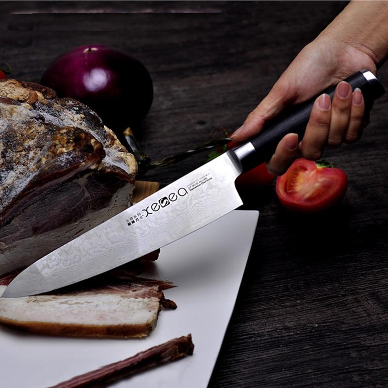 2016 LD 8 inch chef font b knives b font high quality fashion Japanese VG10 Damascus