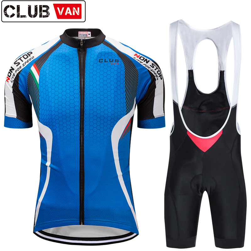 clubvan Pro Cycling Set Maillot Ropa Ciclismo Mountain Bike Clothes Sportswear Racing Bicycle Clothing Cycling Jersey Set#A12 siilenyond farfax summer cycling clothing mountain bike jersey ropa ciclista hombre maillot ciclismo racing bicycle clothes set