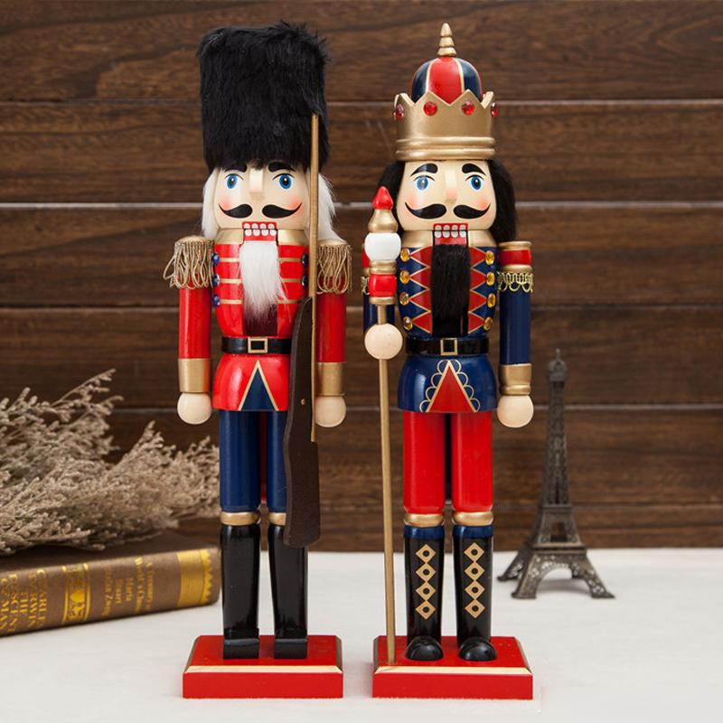 ht106 Free shipping high quality new king Movable doll puppets 38CM classic Nutcracker puppet soldiers Christmas toy gift ht025 free shipping movable doll puppets 13cm hardcover box painted walnut wooden nutcracker children christmas toy 2pcs lot