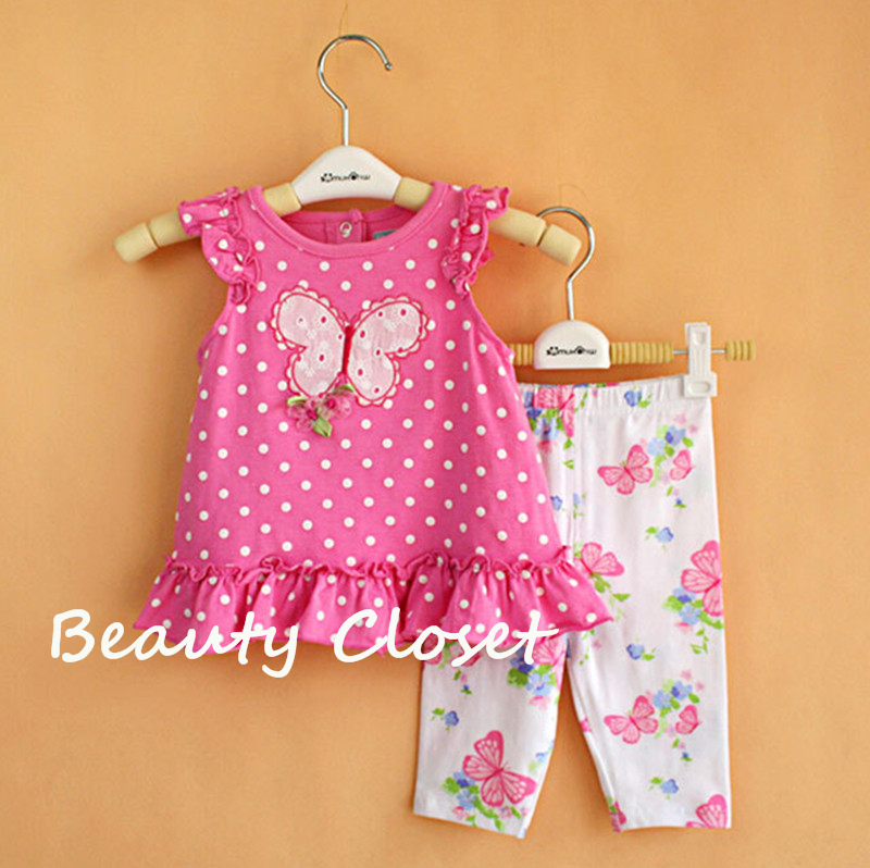 Baby Girl Clothes Set Pink Top Dress + Legging Birthday Outfit Summer Style Casual Baby Clothes pink lala doll top light hot pink ruffle bow petal pettiskirt baby girl outfit set nb 8y mapsa0005