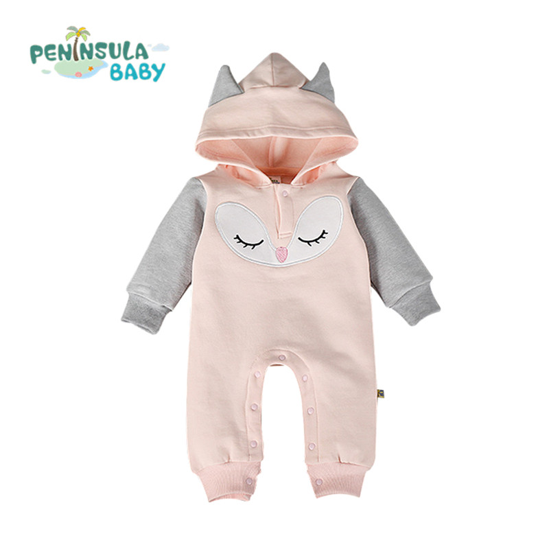 Cartoon Baby Rompers Cotton Long Sleeve Brand Jumpsuits Newborn Infant Winter Clothing Boys Girls Toddler Outerwear Kids Costume winter newborn bear jumpsuit patchwork long sleeve baby rompers clothes baby boys jumpsuits infant girls clothing overall
