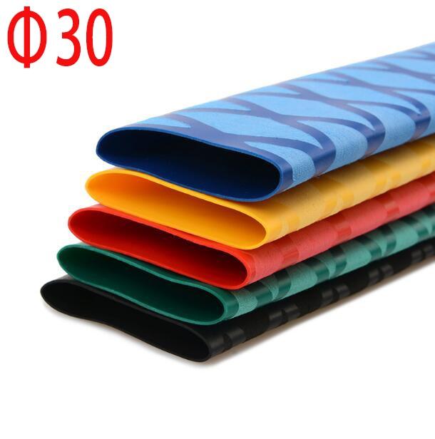 30mm Diameter Heat Shrink Tube Pattern Multicolor Non-slip Tube For Fishing Rode 1 Meter