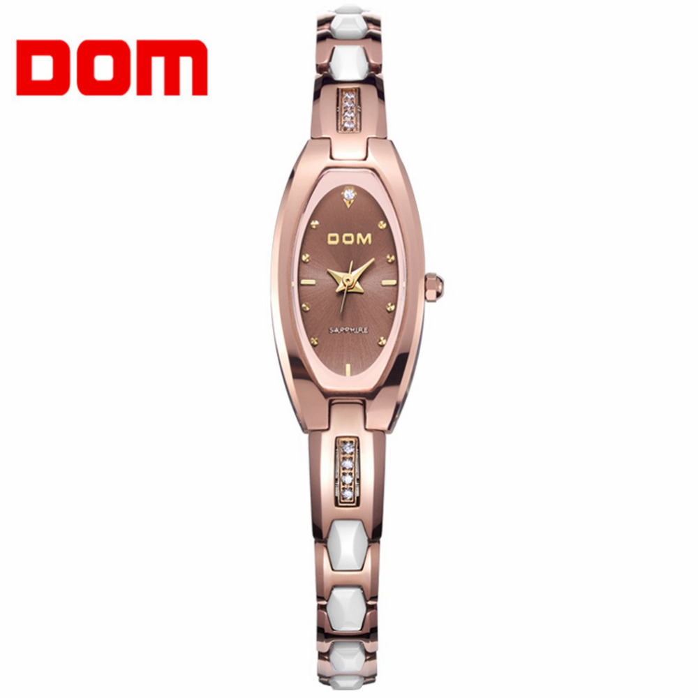 DOM Fashion Womens Watch Row Wear-resisting Tungsten Steel Bracelet Crystal Anti-scratch Casual Resistant Lady Wrist Watches видеоигра бука saints row iv re elected