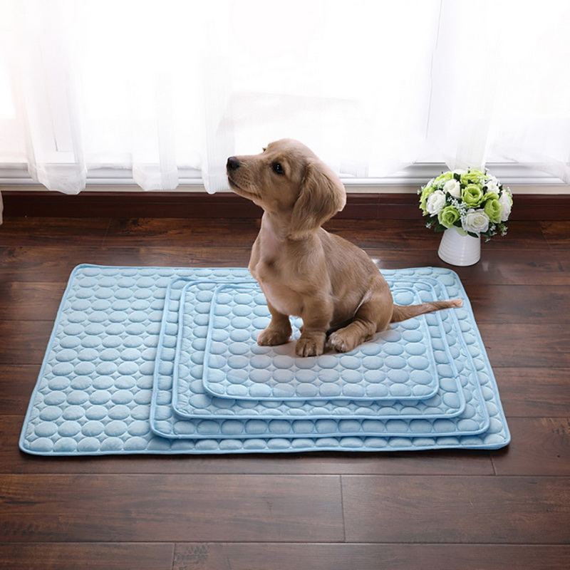 Summer Cooling Mats Blanket Ice Pet Dog Bed Mats For Dogs Cats Sofa Portable Pad