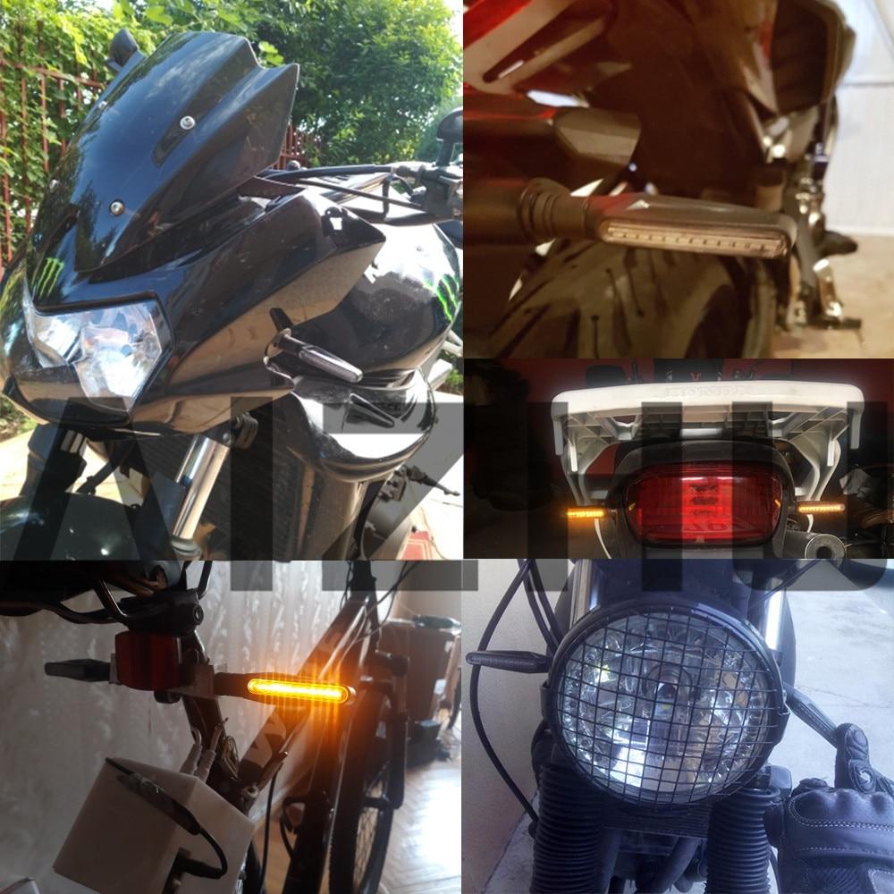 Motorcycle Turn Signal Light LED Flashing Indicators Blinkers light for HONDA VT1100 VT250 XADV 750 X 11 CBR300R CB300F MSX125