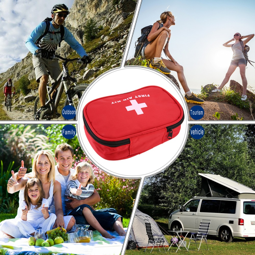 Outdoor Travel First Aid kit Mini Car First Aid kit bag Home Small Medical box Emergency Survival kit Size 15*10*5cm 24set 96pcs ptb bandages for emergency kit non woven plaster first aid kit supplies medical tape 15cm 10cm 7 5cm 5cm mixed