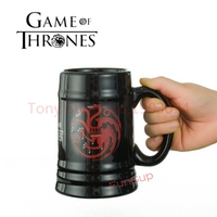36pcsGame of Thrones Dragon Coffee Mug Wolf Cup Milk Cups and Mugs Birthday Gift Drinkware 500ml