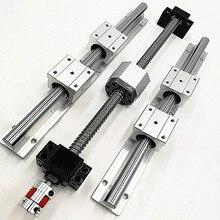 CNC набор линейных рельсы SBR16-400/700/1000 мм + ballscrew SFU1605/SFU1610-L400/700/ 1000 мм + BK12 BF12 + Ballnut корпус + муфта