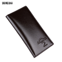 Hot sale! 2016 Famous brand men's Patent Leather long Wallet money handbag, Soft cow leather Ultra-thin coin bag purse