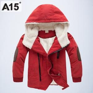 Image 2 - ילדי מעילי חורף ומעילי סתיו Jacket עבור בנים עם ברדס חם מעיילים קטיפה כותנה מעילים בגדי ילדים גיל 4 6 8 10 12 שנה