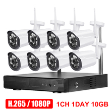 CCTV Камера Системы H.265 8CH Беспроводной 1080 P HD 20 м Ночное видение P2P Водонепроницаемый дома безопасности Wi-Fi Открытый IP Камера системы