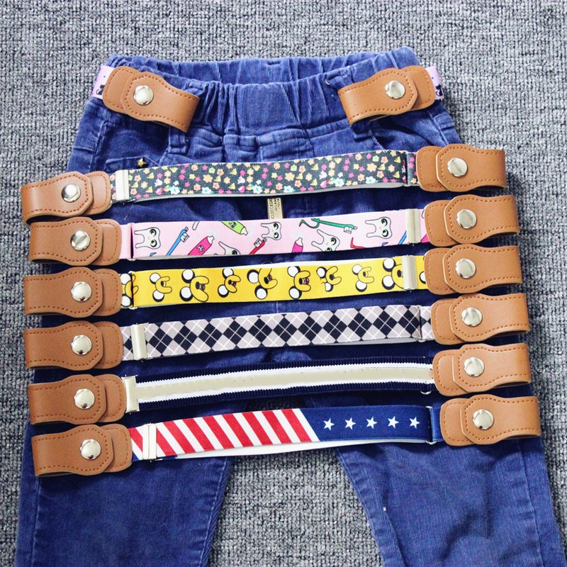 Children No Buckle Belts 2019 Fashion Stretch Belt Kids Adjustable Elastic Waistband Boys And Girls Belts For Dress Jeans Pants