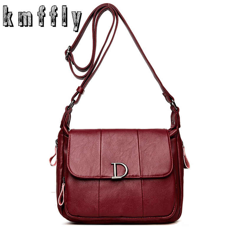28f0d4d82514 Fashion Letter D Women Leather Handbags New Women Bag sac a main femme Luxury  Handbags Women
