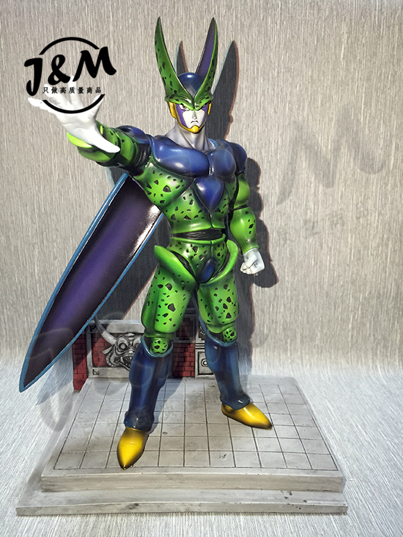 MODEL FANS Dragon Ball Z 32cm final cell GK resin figure toy for Collection model fans in stock dragon ball z mrc 30cm son gohan practice gk resin statue figure toy for collection