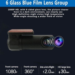 Image 5 - 170 תואר רחב זווית מיני ראיית לילה נהיגה מקליט Wifi HD רכב DVR מצלמת דאש 30 fps רכב DVR מצלמה