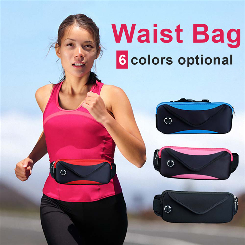 Universal 6inch Waterproof Sport GYM Running Waist Belt Pack Phone Case Bag Armband for iPhone X 8 7 6 6s Plus Samsung S7 Huawei