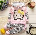 2017 New Baby Girls Clothing Sets Children Hoodies Spring Autumn Clothes Set Kids Sport Tracksuit Set Baby T-shirt+ Pants 2pcs