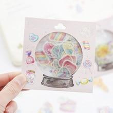 1 pacote doce lâmpada mini adesivos decorativos diy scrapbooking diário álbum vara etiqueta festa decoração crianças presente