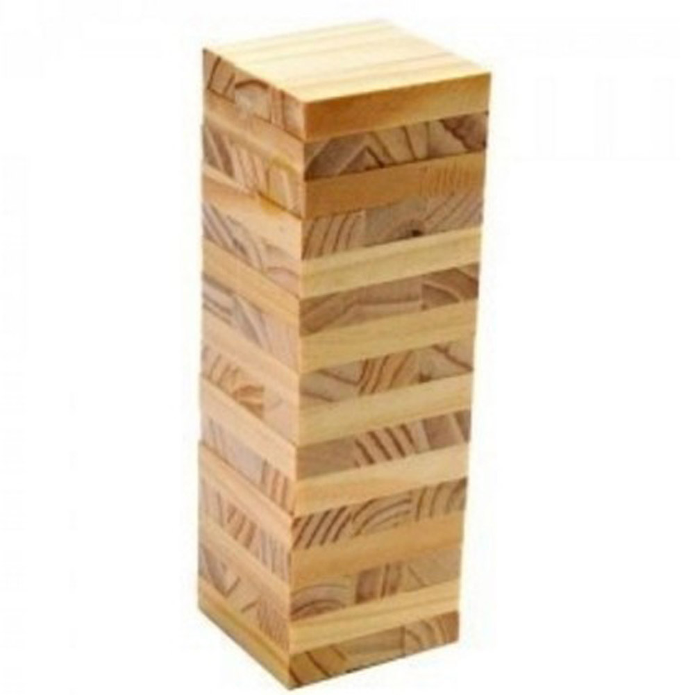 цена на 48 PCs Wooden Tower Wood Building Blocks Toy Domino Stacker Extract Building Educational Jenga Game Gift