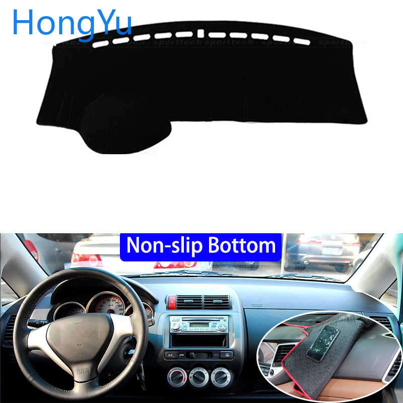 For Honda fit Jazz 2004 - 2007 Car Styling Non-Slip Bottom Covers Dashmat Dash Mat Sun Shade Dashboard Cover Capter