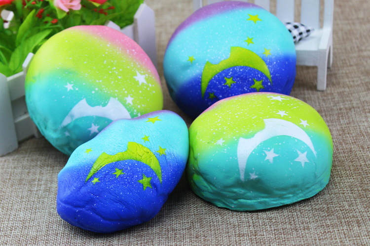 Free shipping 9cm Kawaii squishy Panda expressio blue star steamed bread Jumbo Buns slow rising Squishies mix order wholesale