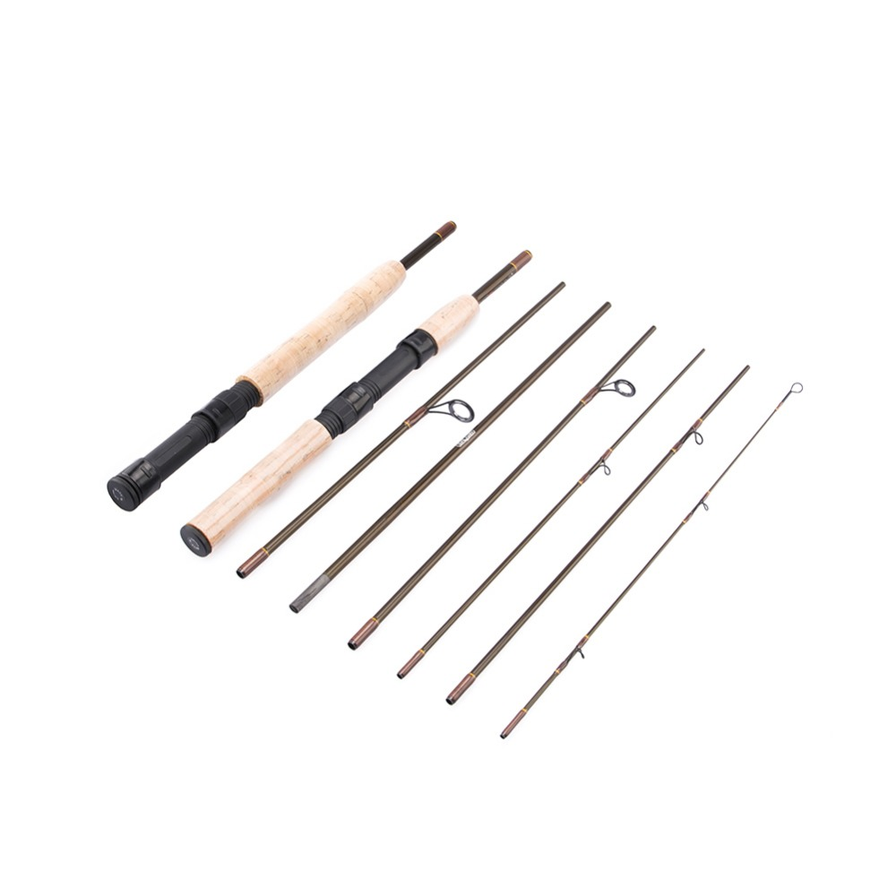 2 3M Lure Rod 7 Section Carbon Spinning Fly Fishing Rod Travel Rod Casting Fishing Pole