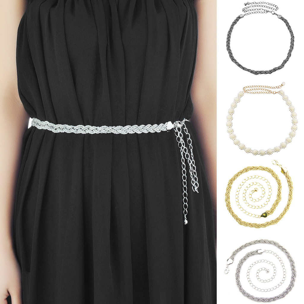 Women 39 s Lady Skinny Fashion Metal Chain Style Belt Body Chain Decor Waist Dress Accessories for Party Wedding Evening Party in Women 39 s Belts from Apparel Accessories