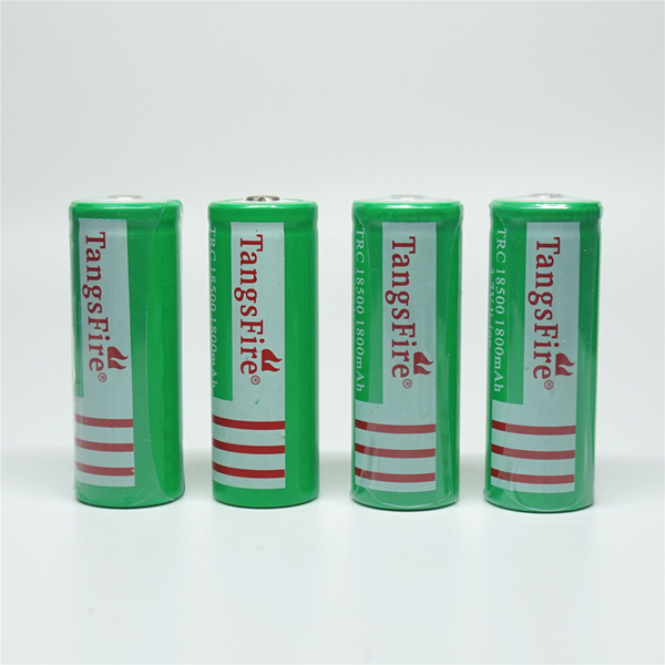 4Pcs TagsFire Rechargeable 18500 1800mAh 3.7V Li-ion Battery for Torch