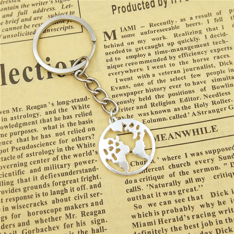 drop shipping World Map keychain women bag car Key ring Geometric pendant  Hollow global map jewelery gifts gold silver color-in Key Chains from  Jewelry ... f2521a97a3