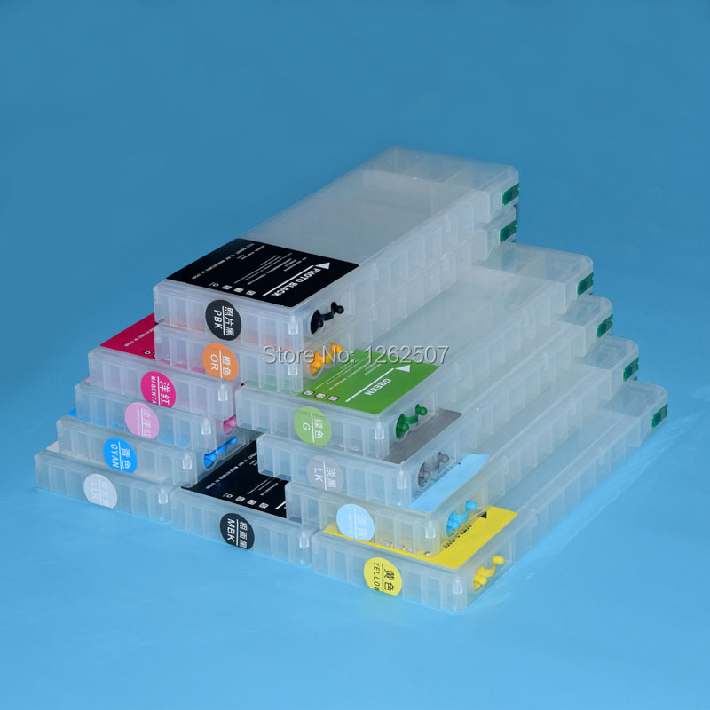 300ml*11Color Empty refillable Inkjet Cartridge for Epson Stylus pro 4900 Printer For Epson T6531-T6539 T653A/T653B ARC chip 11colors 200ml empty ink cartridge with ink bag for epson stylus photo 4900 printer with arc chip