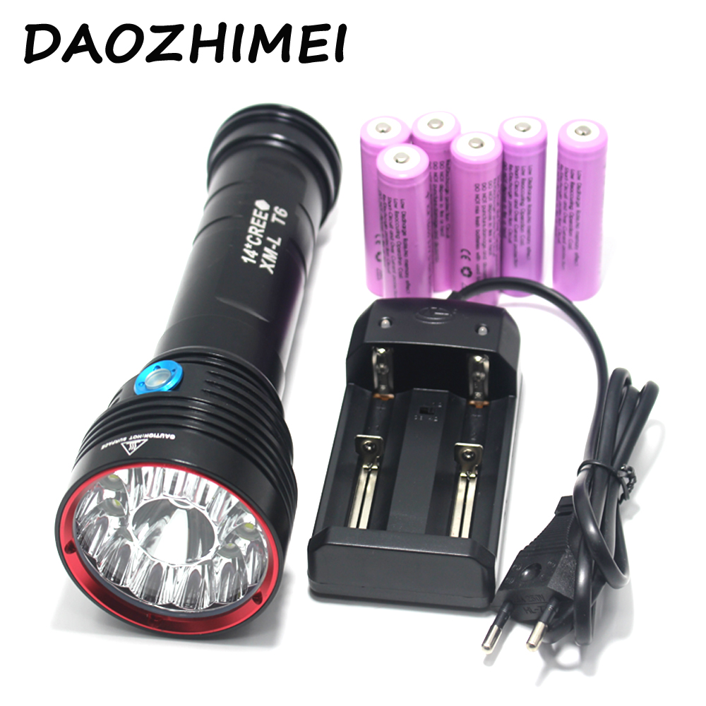 SkyRay SKY RAY KING Sy-007 14T6 14x Cree XM-L T6 25000 Lumens 3-Mode LED Flashlight Torch Lamp big power 8200 lumens flashlight 5 mode cree xm l t6 led flashlight zoomable focus torch by 1 18650 battery or 3 aaa battery