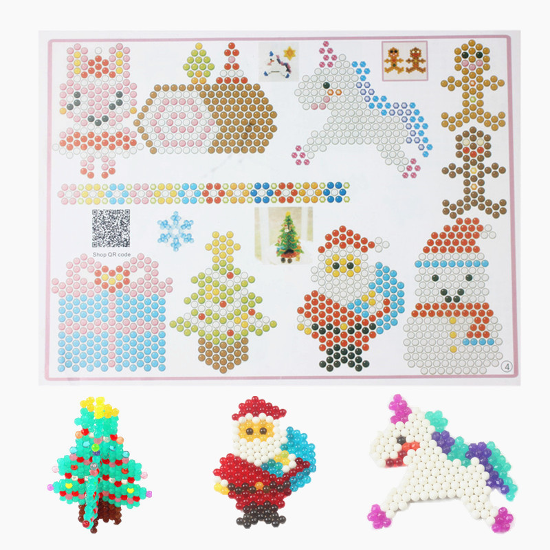 Kids Halloween Puzzle 3d Water Sticky Beads Toys Baby Speelgoed Christmas Spray Beads Educational Toys For Children Juguetes