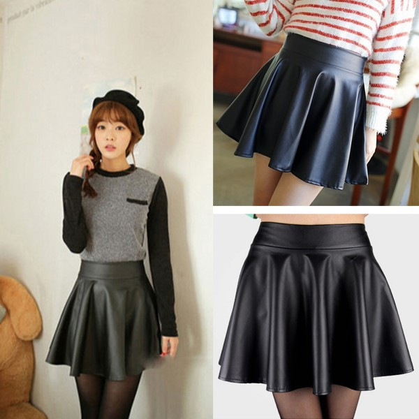 Aliexpress.com : Buy Wholesale NewLady Girls Faux Leather Skirt ...