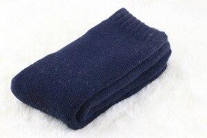 Image 5 - 1 ロット = 3 pairs = 6 枚のウールの靴下暖かい靴下プラス厚いビロード無地肥厚の冬のウール靴下男性の靴下 2019 冬
