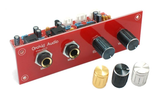 12 V Karaoke Ses Kartı PT2399 ile NE5532 Preamplifikatör Mikrofon Amplifikatör + Panel