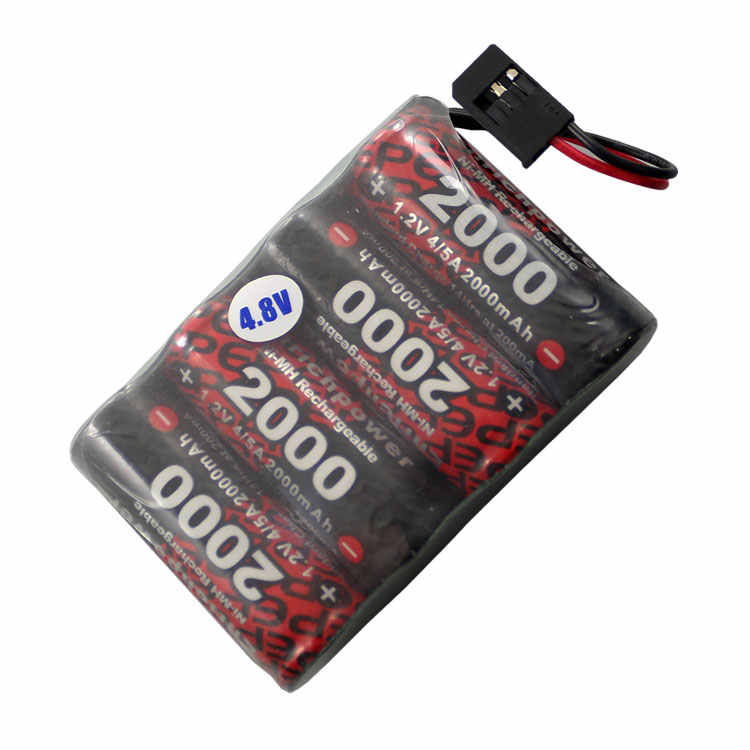 Nuevo caliente 10C 4,8 V 2000mAh en modelos envío servo receptor control remoto 4/5A tipo Ni MH batería recargable de iones de litio
